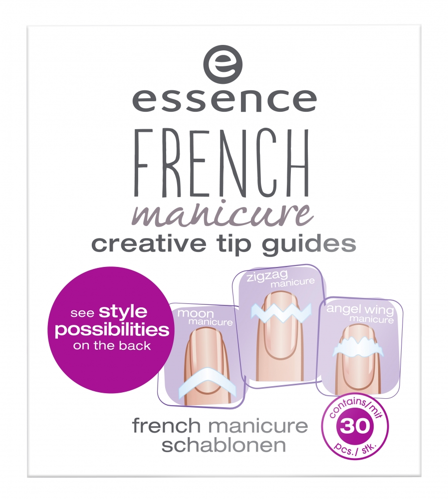 essence šablóna na francúzsku manikúru - French Manicure Tip Guides - 02 From Heaven With Love