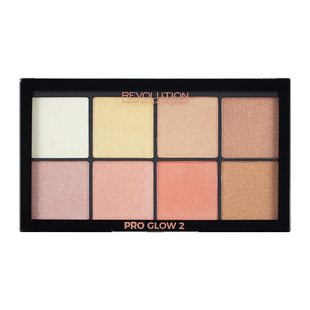 makeup revolution highlighter palette pro glow 2 pink. Black Bedroom Furniture Sets. Home Design Ideas