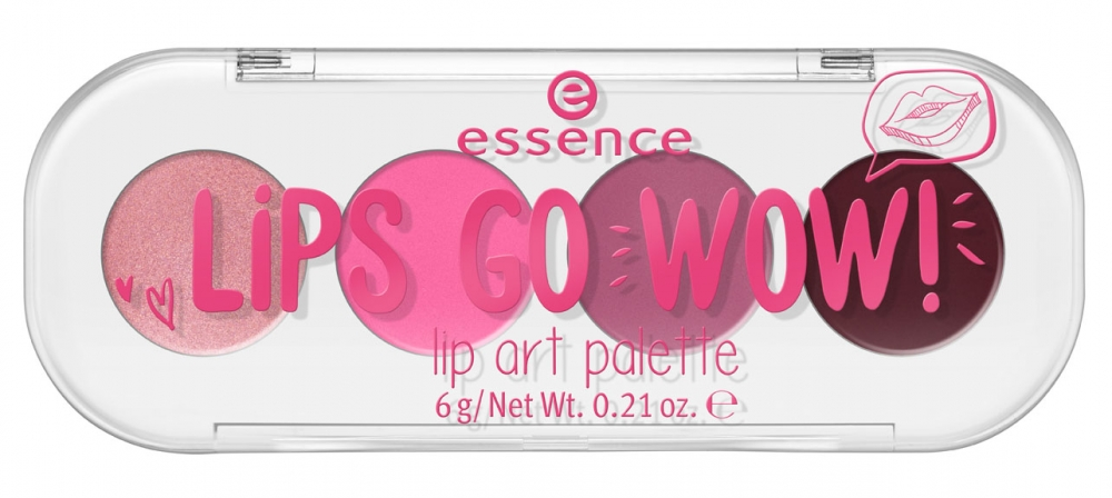 essence paleta de rujuri de buze - Lips Go Wow Lip Art Palette - 01 Show'em Your Style!