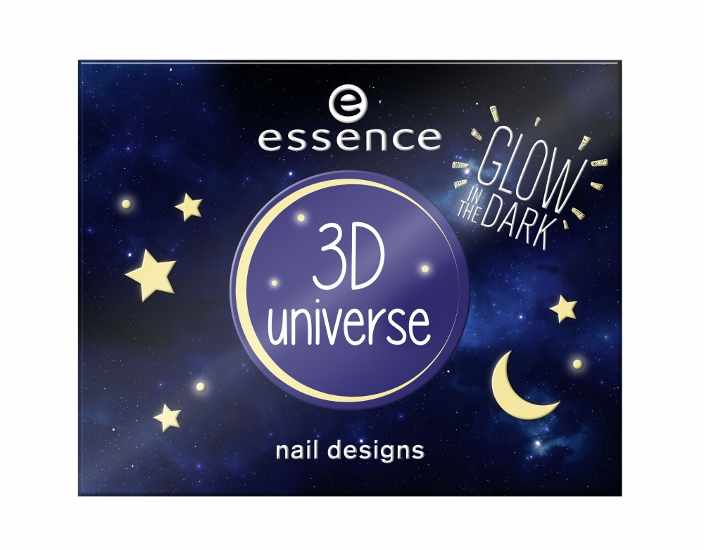 essence Nagelsticker – Glow In The Dark 3D Universe Nail Designs