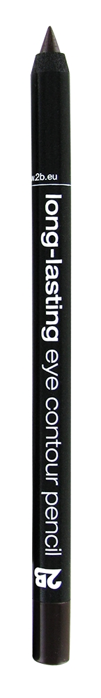 2B Cosmetics črtalo za oči – Long-Lasting Eye Contour Pencil – 02 Brown (15852)