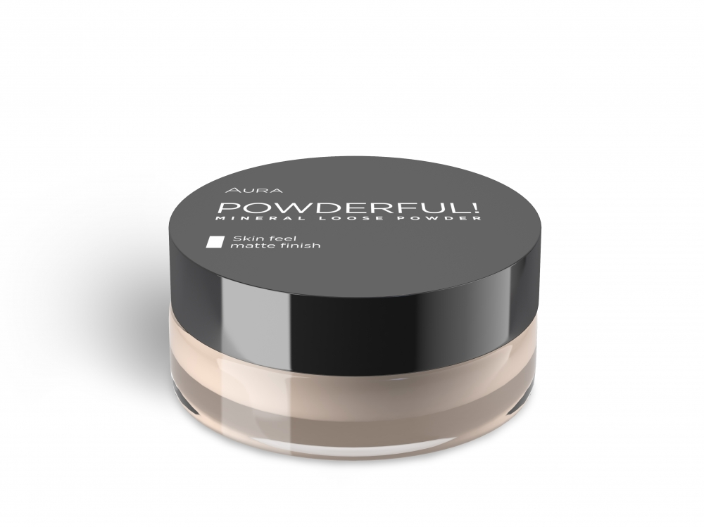 Aura puder v prahu - Powderful Mineral Loose Powder - 02 Natural (7736)