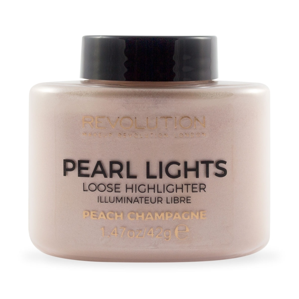 Makeup Revolution illuminante in polvere - Pearl Lights Loose Highlighter - Peach Champagne