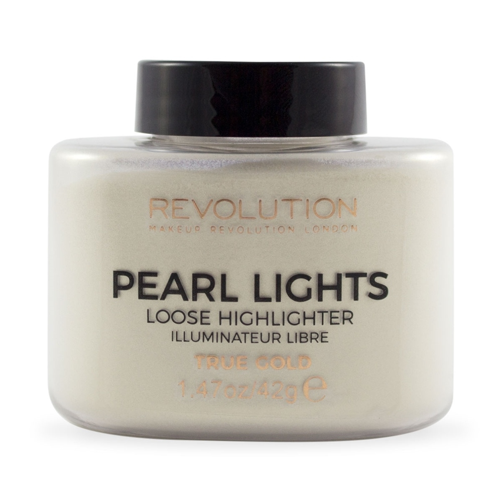 Makeup Revolution highlighter u prahu - Pearl Lights  Loose Highlighter - True Gold