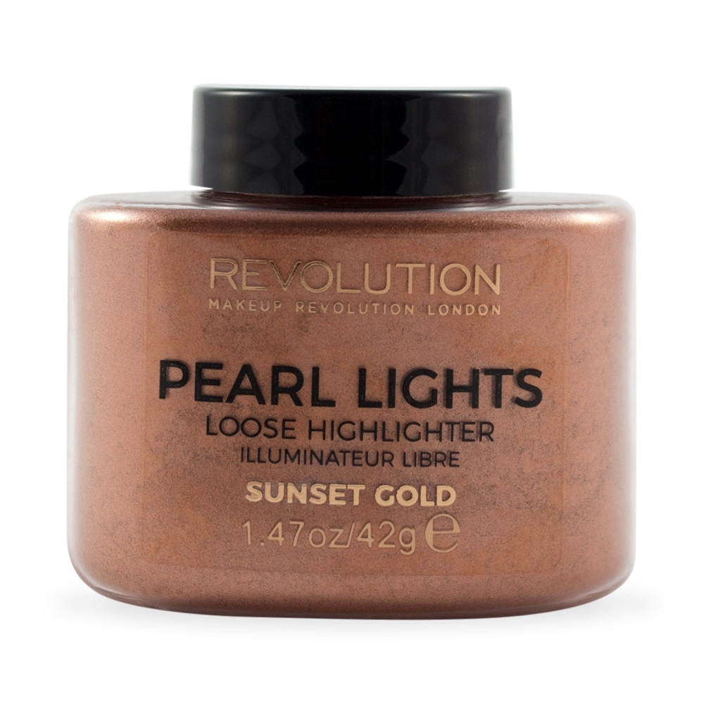 Makeup Revolution Pearl Lights Loose Highlighter highlighter púder - Sunset Gold