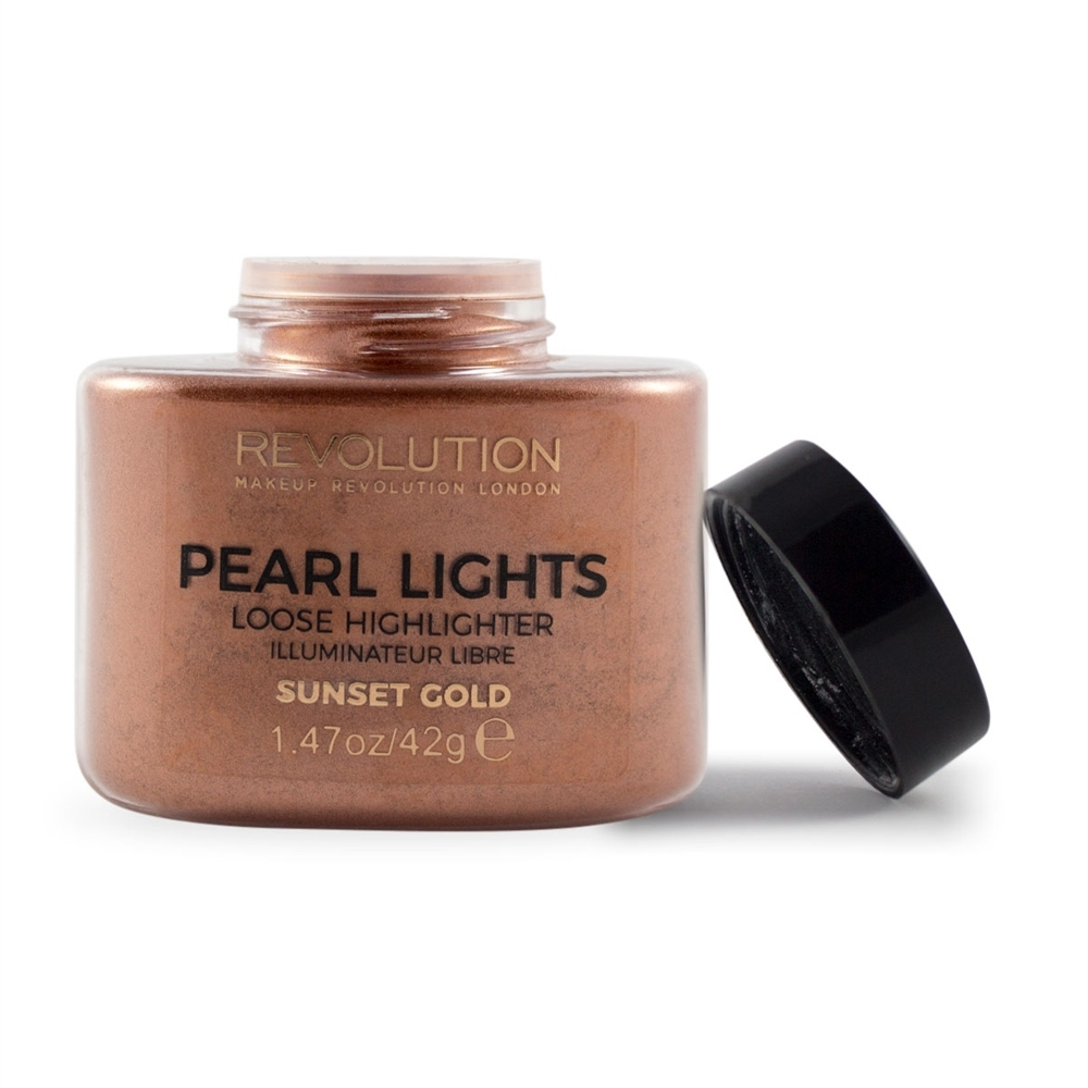 Makeup Revolution osvetljevalec v prahu - Pearl Lights Loose Highlighter - Sunset Gold