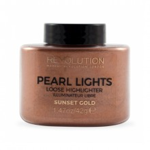 Revolution osvetljevalec v prahu - Pearl Lights Loose Highlighter - Sunset Gold