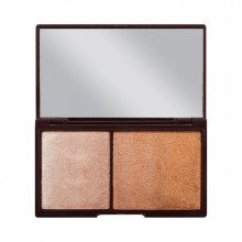 Heart Makeup paleta za obraz - Chocolate Highlighting & Illuminating Duo - Bronze And Shimmer