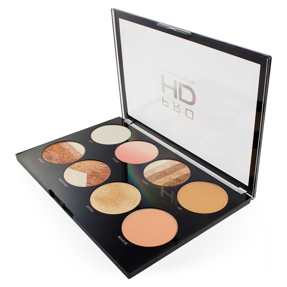 makeup revolution paleta highlightera pro hd highlighter. Black Bedroom Furniture Sets. Home Design Ideas