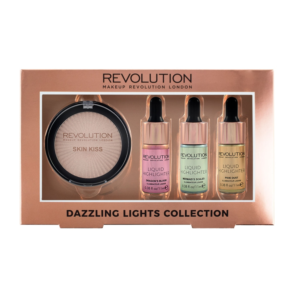 Makeup Revolution sada rozjasňovačov – Dazzling Light Collection