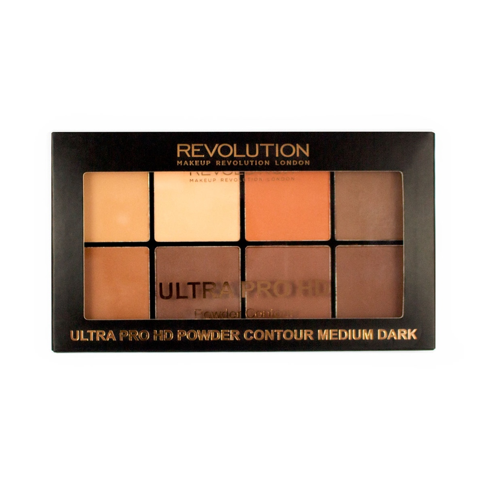 Makeup Revolution Ultra Pro HD Powder Contour kontúr paletta - Medium Dark