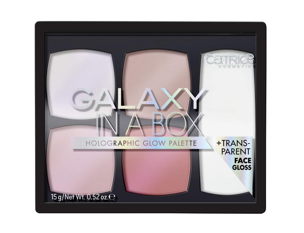 CATRICE палитра с хайлайтъри - Galaxy In A Box Holographic Glow Palette - 010 Out Of Space