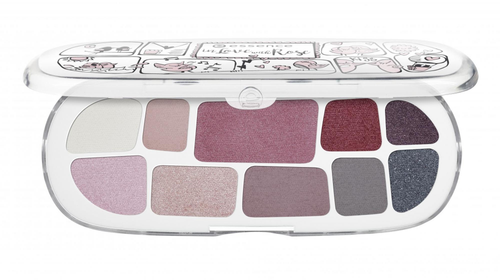 essence palette di ombretti - The Trend Factory - In Love With Rose - 02 & Happily Ever After