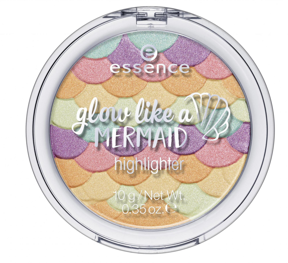 essence kompaktni osvetljevalec -  Glow Like A Mermaid Highlighter - 10 Forever Mermaid