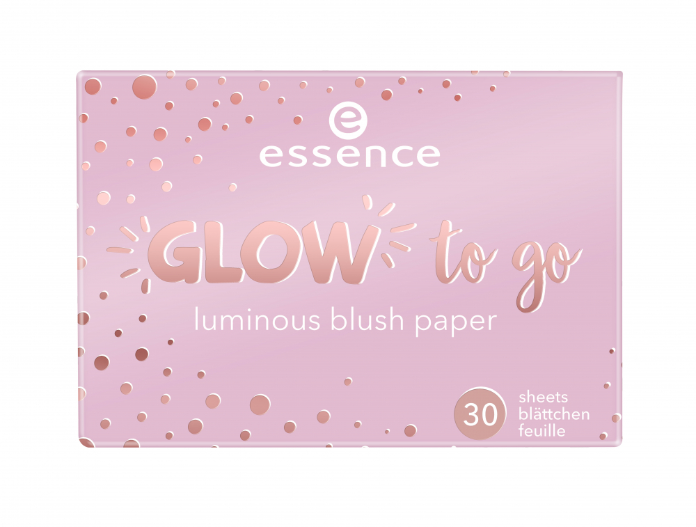 essence руж под формата на листчета - Glow To Go Luminous Blush Papers - 10 You Make Me Glow