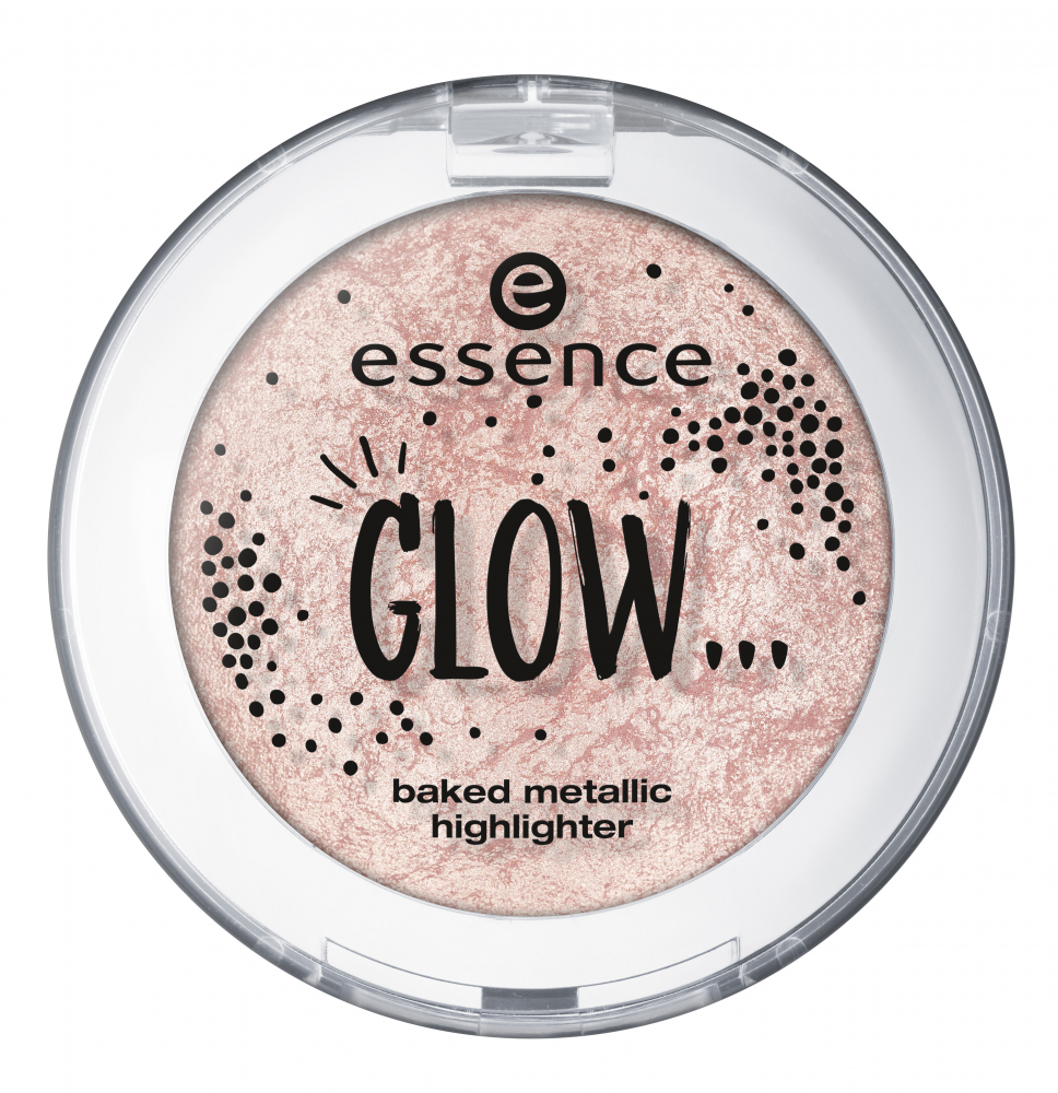 essence iluminator compact - Glow... Baked Metallic Highlighter - 03... Like Glitter Is Raining Down On You