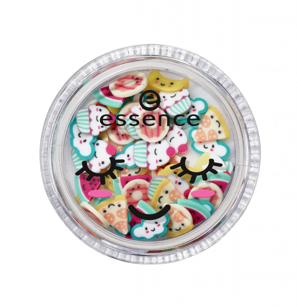 essence Happy Kawaii 3D Nail Topping Sprinkles körömmatricák - 02 Laugh.Love.Eat.Repeat