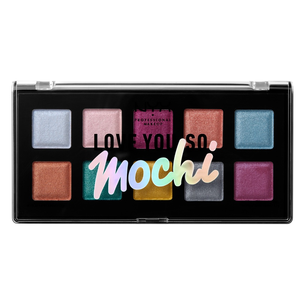 NYX Professional Makeup палитра сенки за очи - Love You So Mochi Eyeshadow Palette – Electric Pastels (LYSMSP01)
