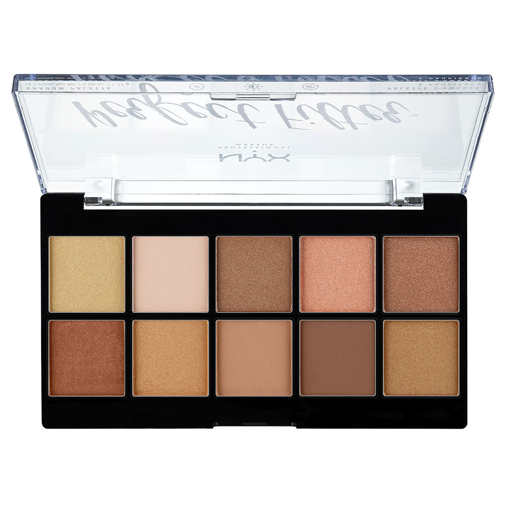 NYX Professional Makeup paleta očných tieňov - Perfect Filter Shadow Palette – Golden Hour (PFSP01)