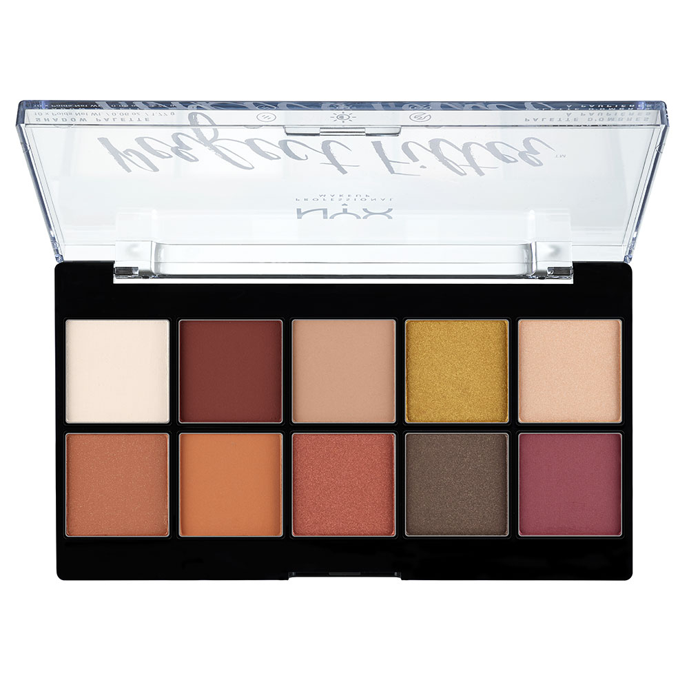 NYX Professional Makeup paleta očných tieňov - Perfect Filter Shadow Palette – Rustic Antique (PFSP02)