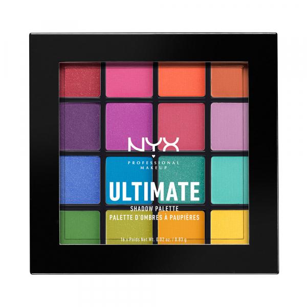 NYX Professional Makeup paleta očních stínů - Ultimate Shadow Palette – Brights (USP04) - PinkPanda.cz