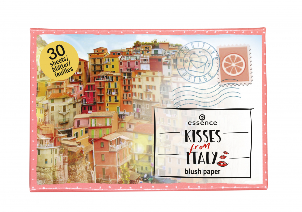 essence papierová lícenka – Kisses From Italy – Blush Blotting Paper - 01 Amalfi's Love Story