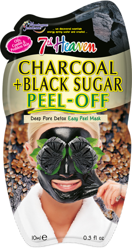 Montagne Jeunesse njegujuća maska - Charcoal & Black Sugar Peel-Off Face Mask