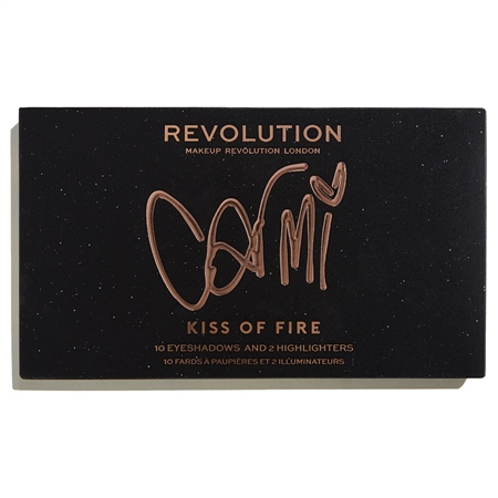 REVOLUTION paleta očných tieňov - Revolution X Carmi Eyeshadow Palette – Kiss Of Fire