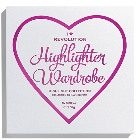 I Heart Revolution kompaktni highlighter - Highlighter Wardrobe