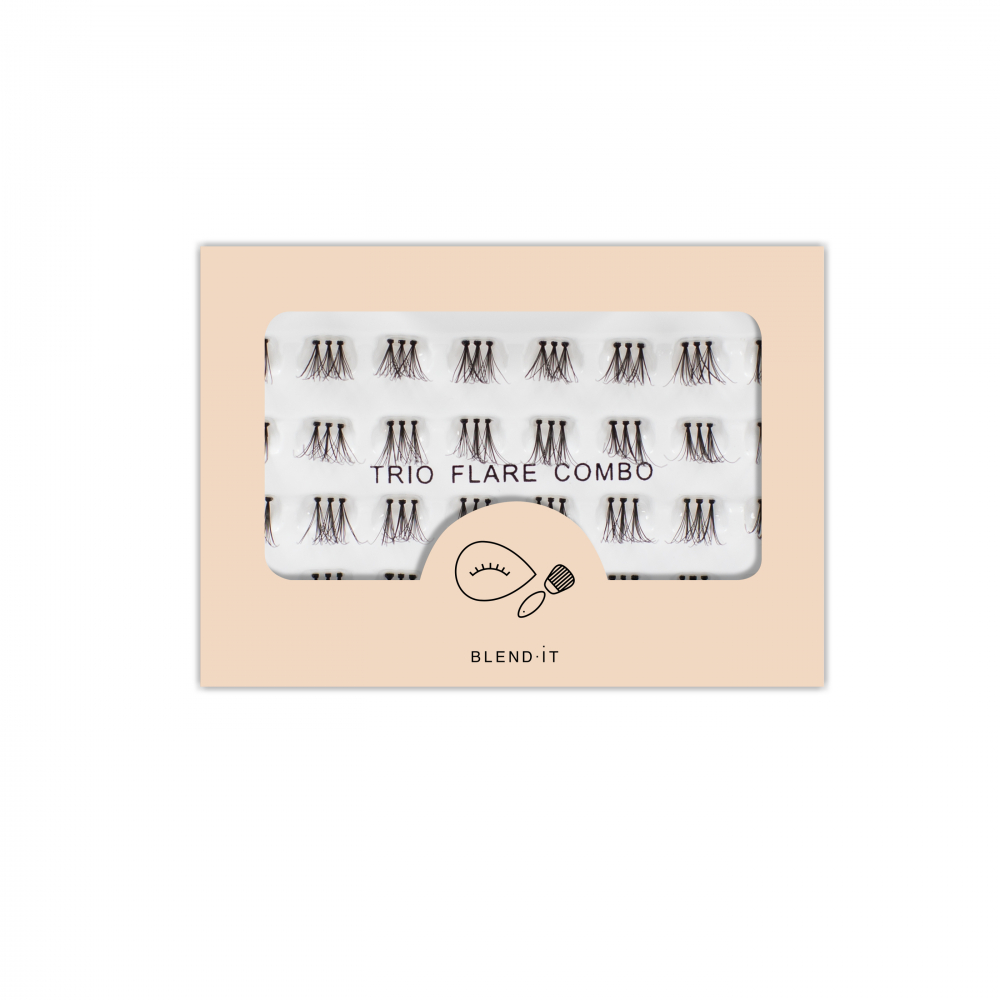 Blend it! einzelne Wimpern – False Lashes Flare Trio 32 (23824)