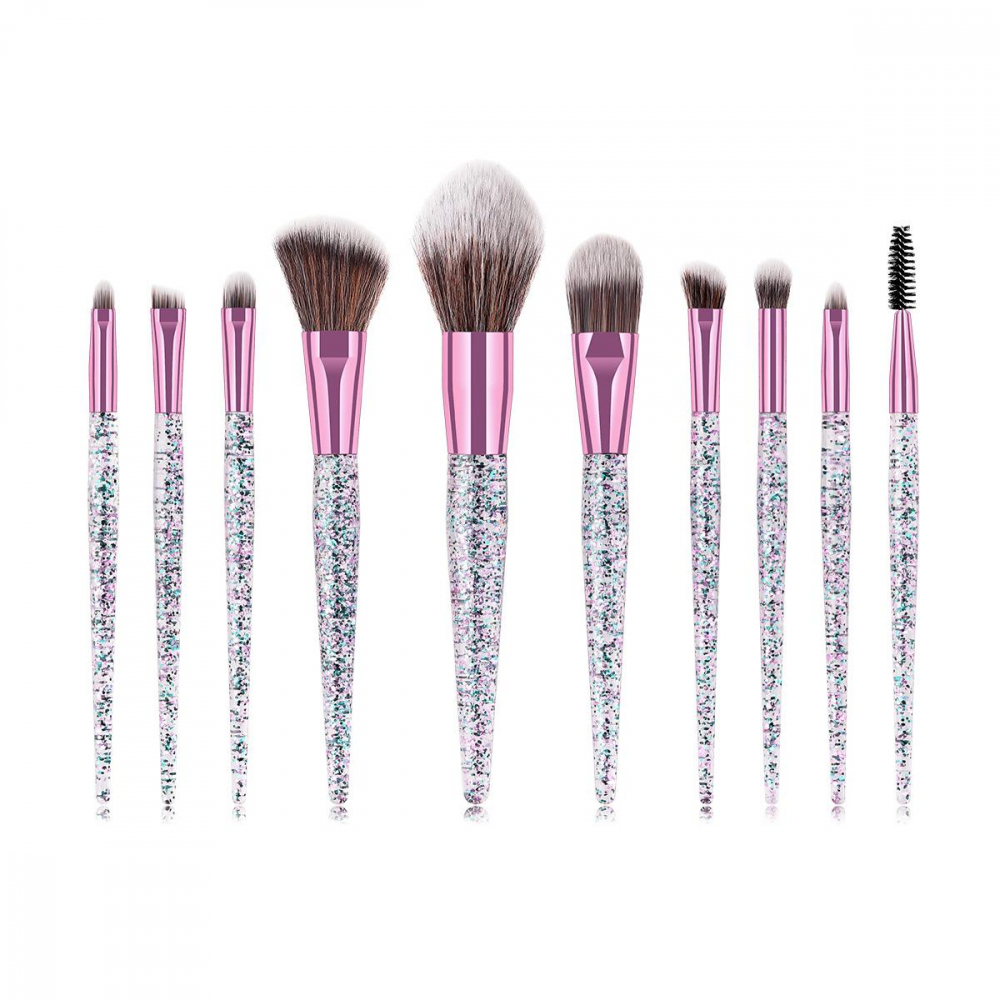 Mayani Design set čopičev - 10pc Brush Set - Glitter Fusion