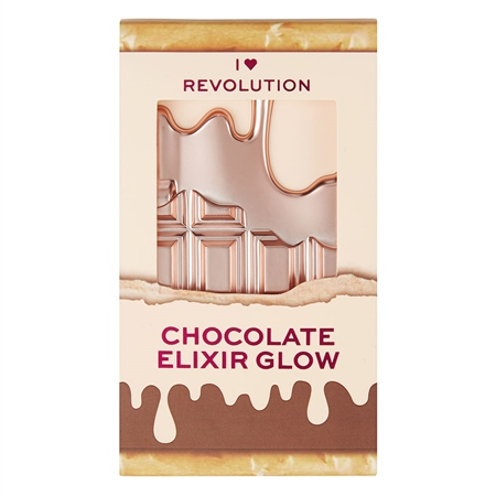 I Heart Revolution kompaktni highlighter - Mini Glow Chocolate Palette - Elixir Glow