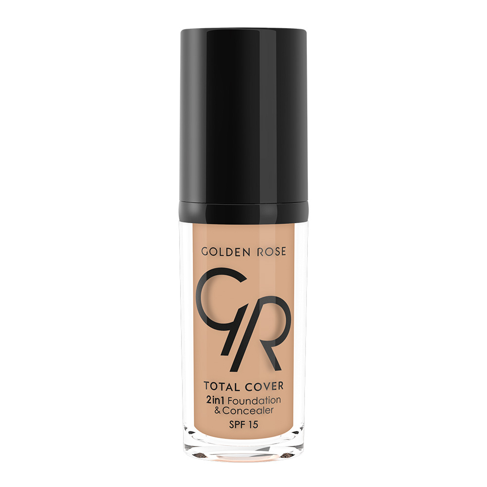 Golden Rose folyékony alapozó - Total Cover 2in1 Foundation & Concealer - 15