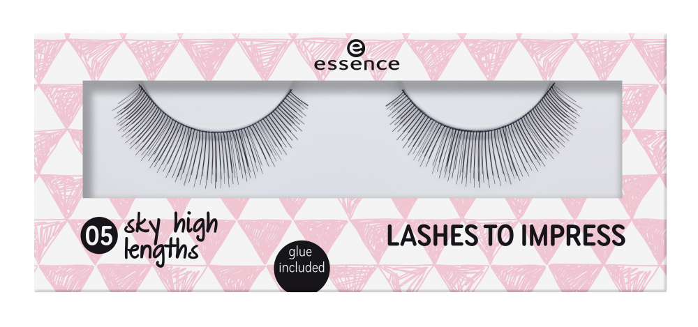 essence umelé riasy - Lashes To Impress - 05 Sky High Lenghts