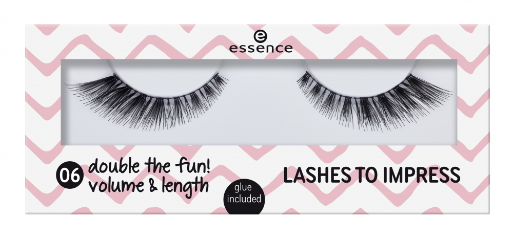 essence umelé riasy - Lashes To Impress - 06 Double The Fun!