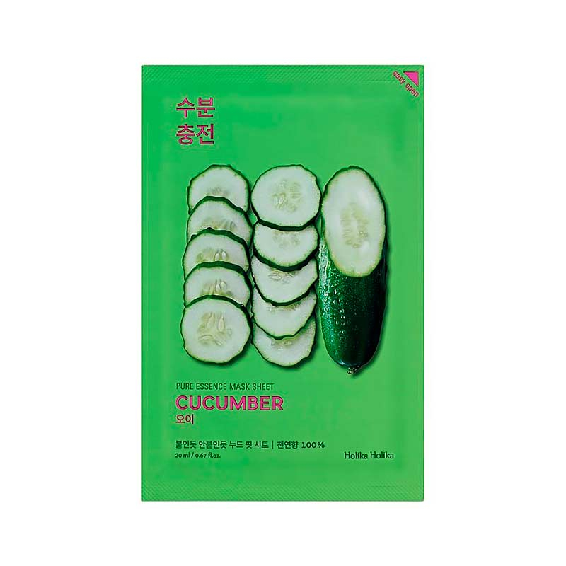 Holika Holika Gesichtsmaske – Pure Essence Mask Sheet – Cucumber