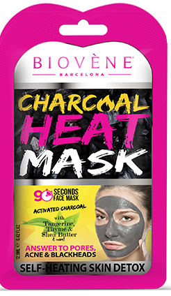 Biovène Cosmetics topla maska za lice – Charcoal Heat Mask 12,5ml