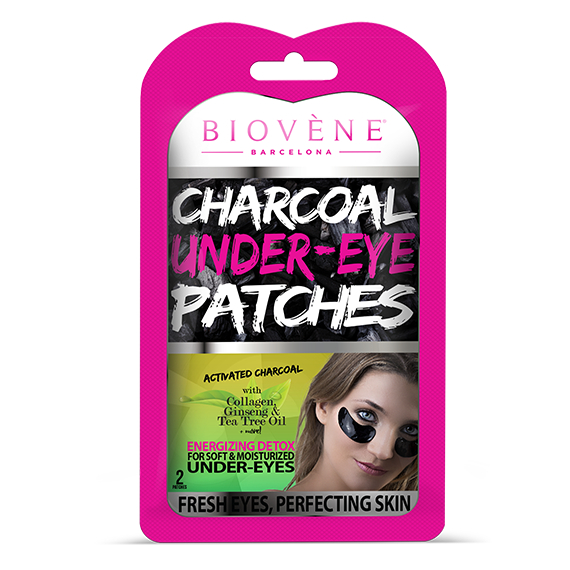 Biovène Cosmetics paduri pentru zona ochilor – Charcoal Under–Eye Patches