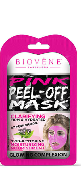 Biovène Cosmetics розова маска за лице – Pink Peel Off Mask 12,5ml