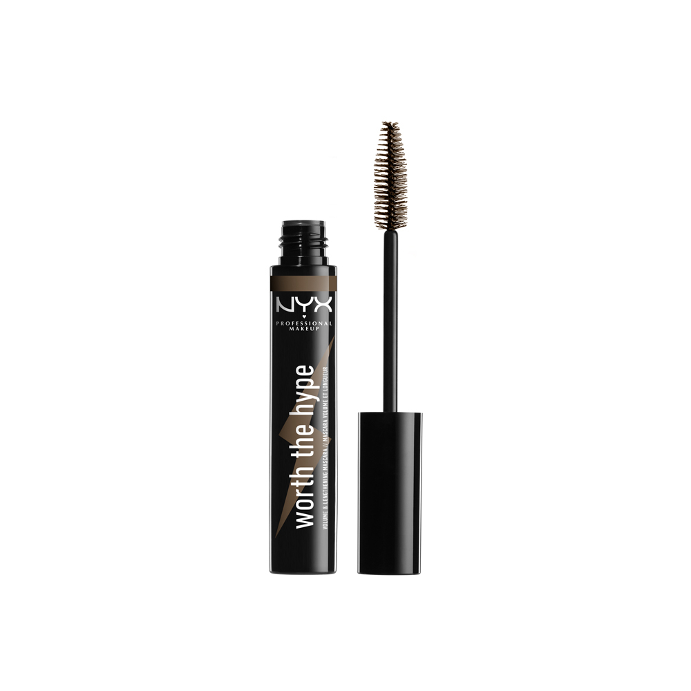 NYX Professional Makeup barvna maskara za trepalnice - Worth The Hype Mascara - Brownish Black (WTHM02)