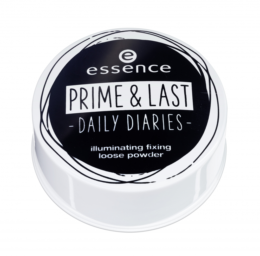essence sypký pudr - Prime & Last Daily Diaries Limited Edition - Illuminating Fixing Loose Powder - 01 Glow For It!