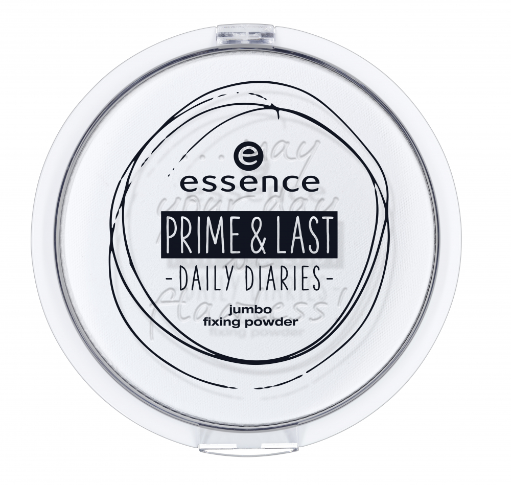 essence фиксираща пудра - Prime & Last Daily Diaries Limited Edition - Jumbo Fixing Powder - 01 May Your Day Be Flawless!