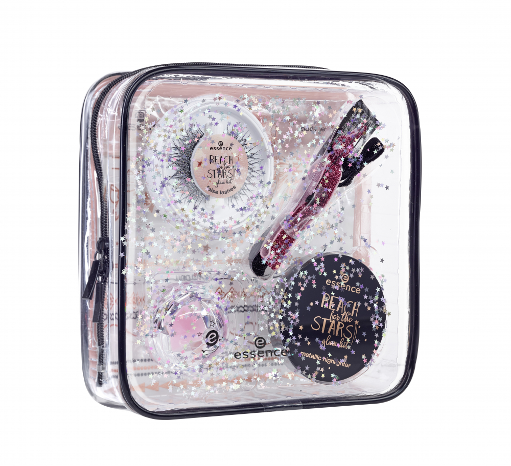 essence třpytivý set pomůcek - Reach For The Stars - Glam Kit Limited Edition