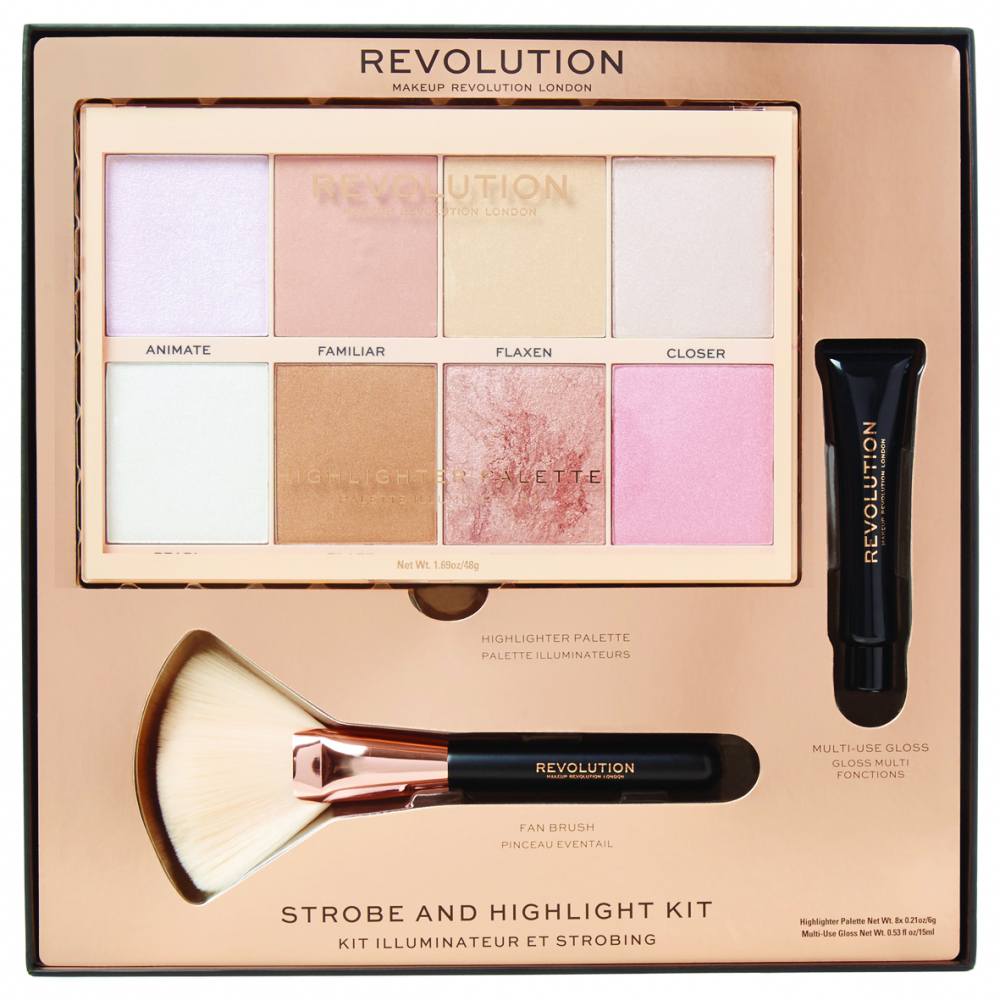 Revolution Makeup-Set - Strobe And Highlight Kit