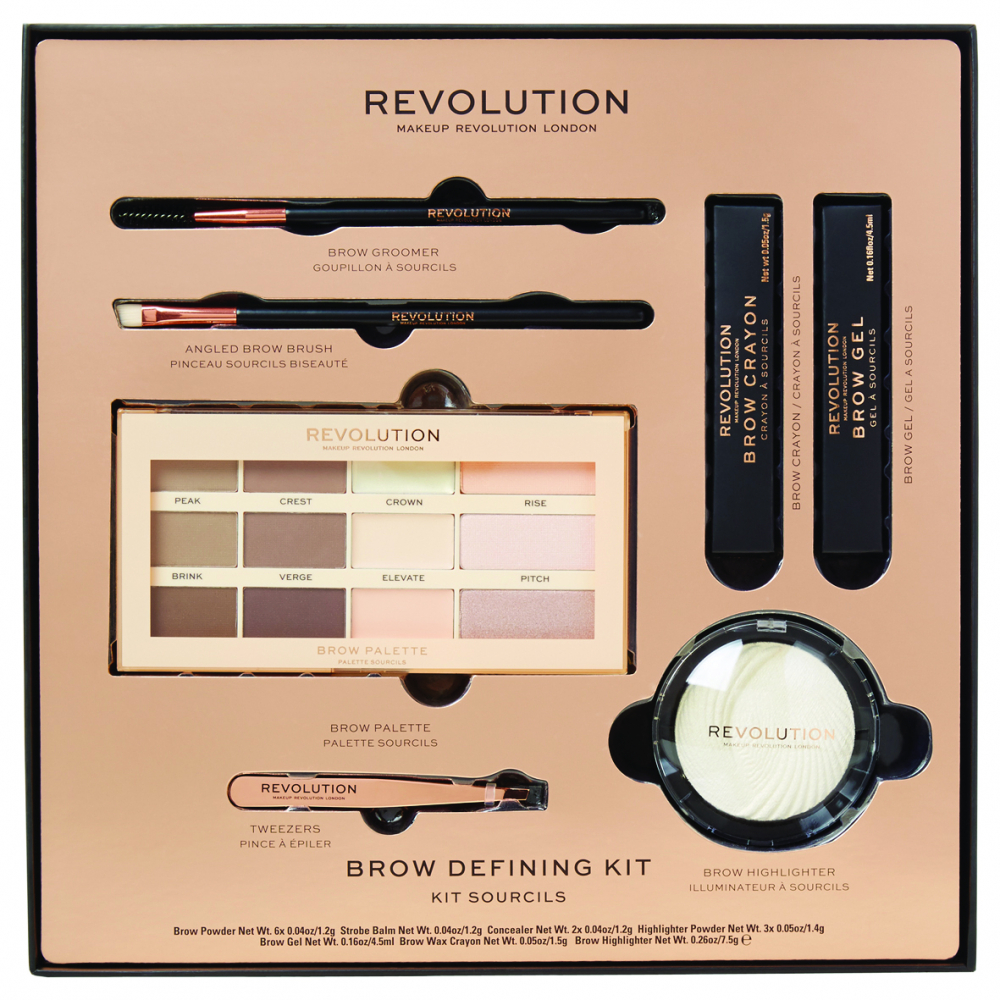 Revolution set za obrve - Brow Defining Kit