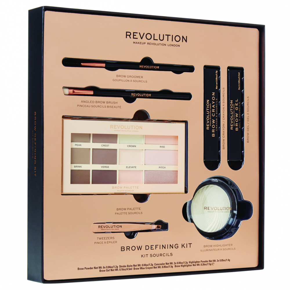 Revolution set za obrvi - Brow Defining Kit