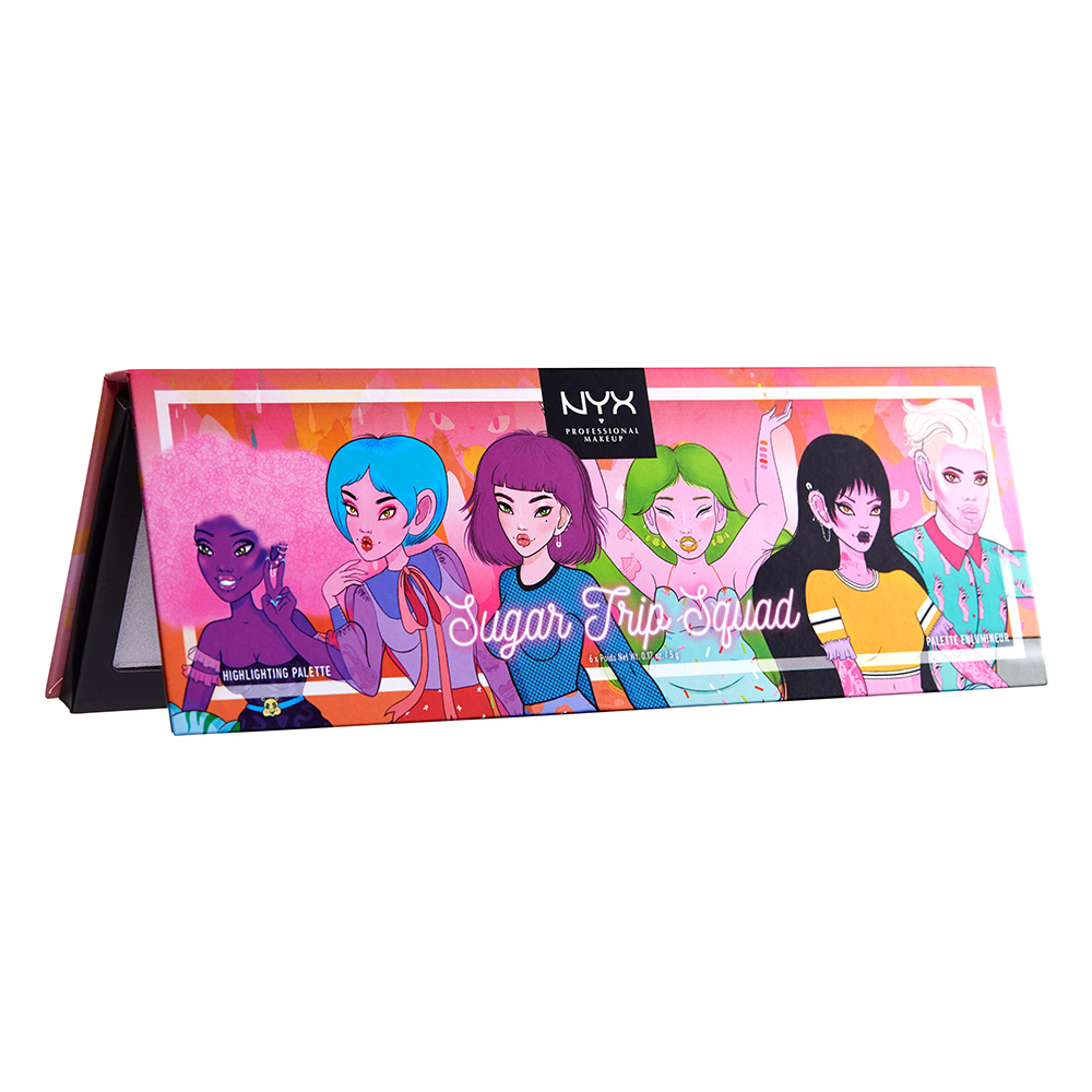 NYX Professional Makeup paleta osvetljevalcev - Sugar Trip - Squad Highlighter Palette Limited Edition (SQUADHP01)