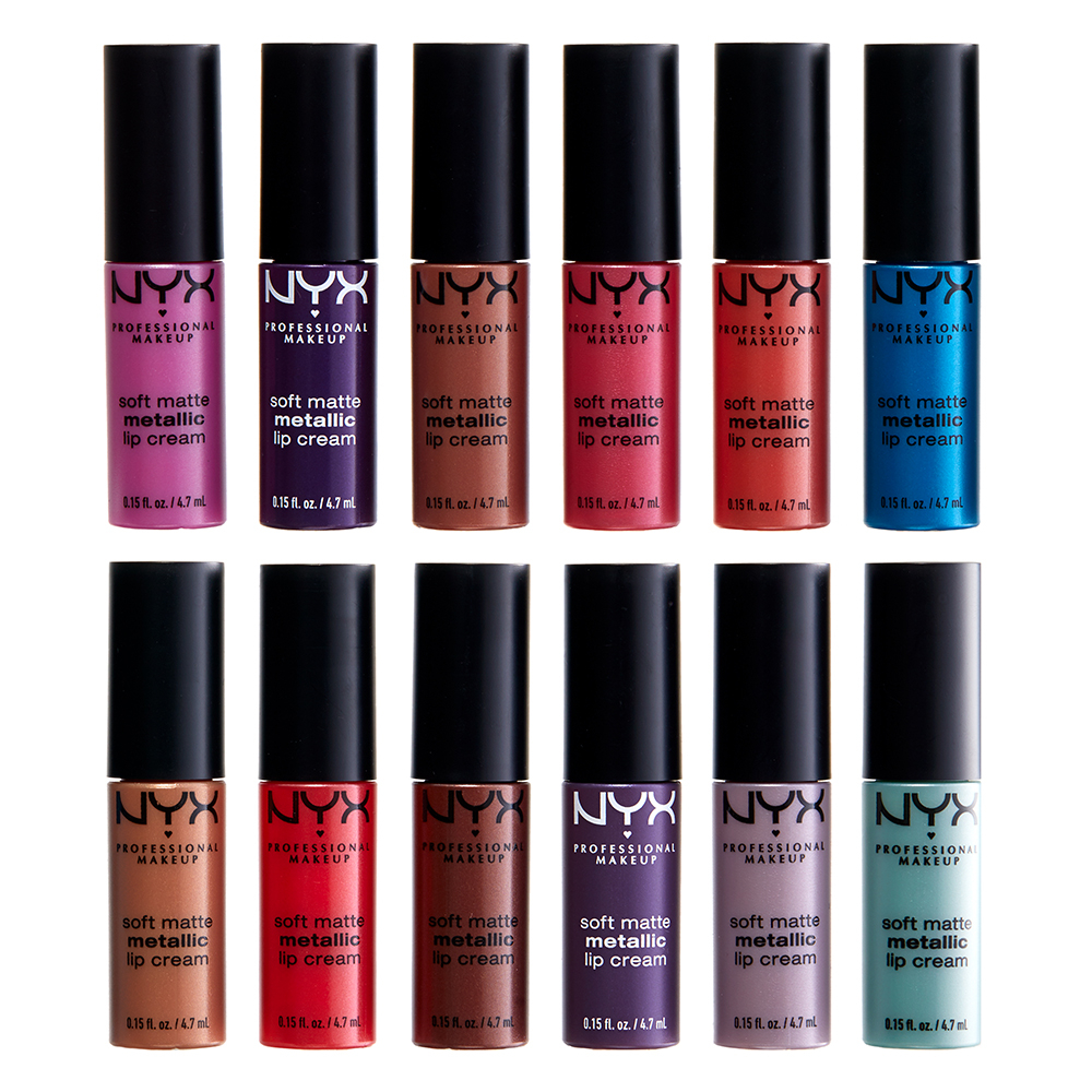 NYX Professional Makeup комплект гланцове - Whipped Wonderland Soft Matte Metallic Lip Cream Set
