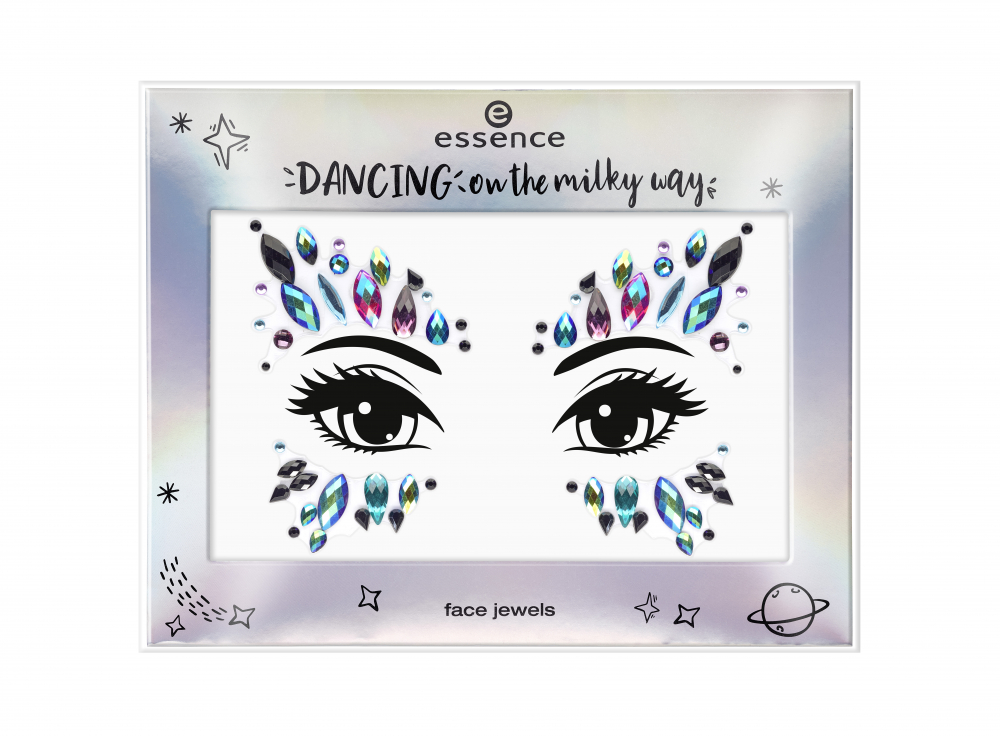 essence kamienky na tvár - Dancing On The Milky Way Limited Edition - Face Jewels - 01 Dark Rainbow