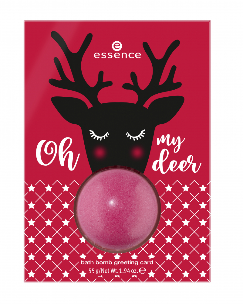 essence bomba do kúpeľa s venovaním - Ho Ho Ho! Limited Edition - Bath Bomb Greeting Card - 01 Oh My Deer